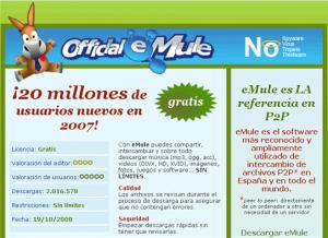Sitio Web Trucho del Emule
